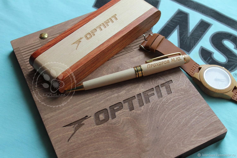 Ручка + блокнот, подарочный набор с индивидуальной гравировкой мужчине, Ручки, Тверь,  Фото №1