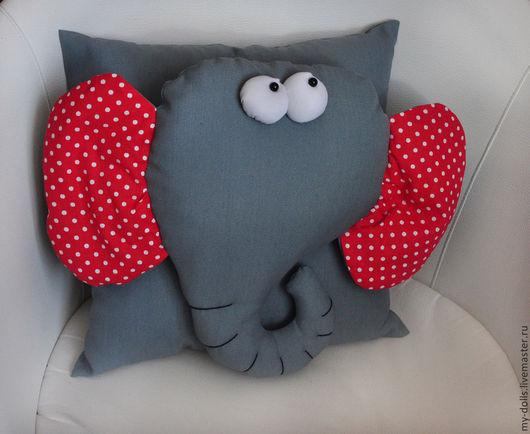 Текстиль, ковры ручной работы. Ярмарка Мастеров - ручная работа. Купить Подушка слон.. Handmade. Слон, слон подушка, детская