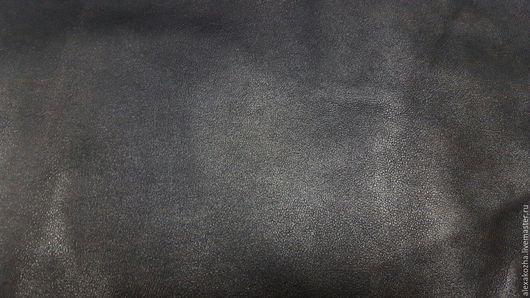 Шитье ручной работы. Ярмарка Мастеров - ручная работа. Купить Кожа натуральная Фиеста Софти Вакс черная. Handmade. Черный