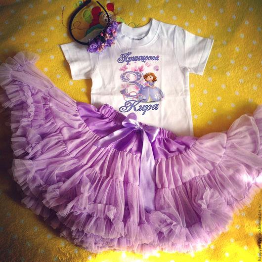 """Одежда для девочек, ручной работы. Ярмарка Мастеров - ручная работа. Купить Комплект для фотосессии """"Принцесса София"""" (юбка пачка+ бодик). Handmade."""