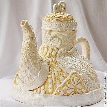 """Посуда ручной работы. Ярмарка Мастеров - ручная работа Чайник """"Чаепитие в стиле бохо"""". Handmade."""