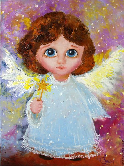 Милый  и добрый звездный ангел принесет счастье в ваш дом.