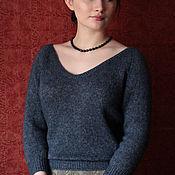 """Пуловеры ручной работы. Ярмарка Мастеров - ручная работа """"Moon River""""- свитер из кашемира с шелком. Handmade."""