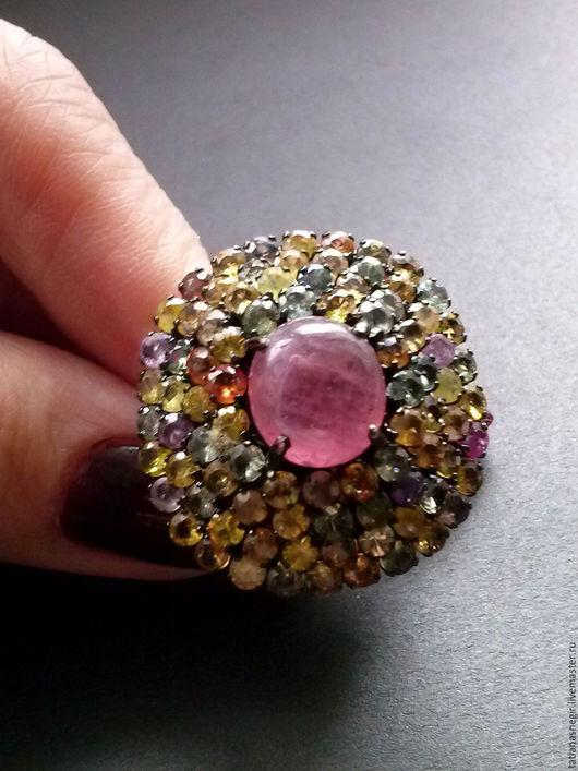 Кольца ручной работы. Ярмарка Мастеров - ручная работа. Купить Кольцо серебро 925 , черное родирование, натуральные камни. Handmade.