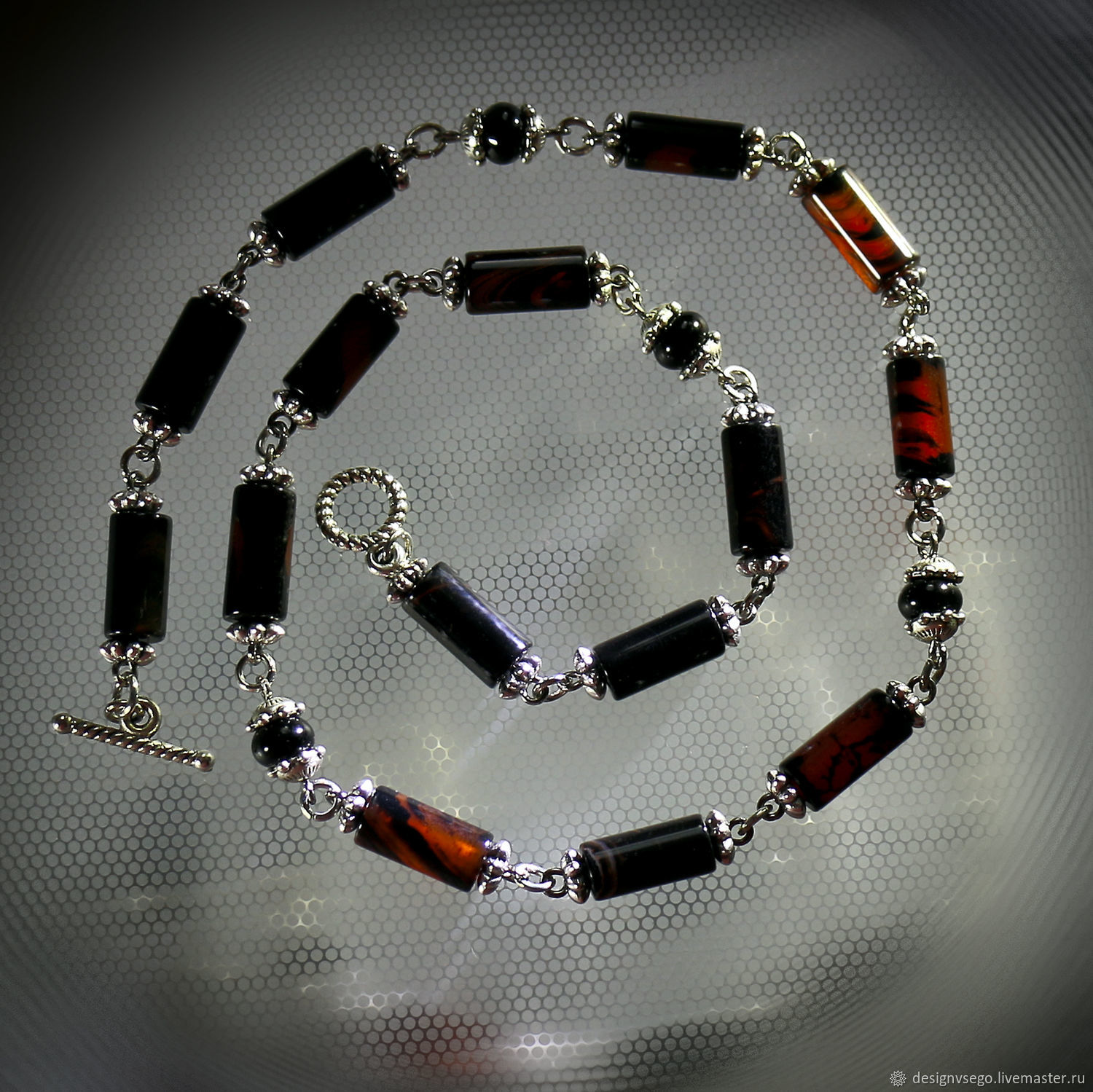 Choker with fire agate, Necklace, Moscow,  Фото №1
