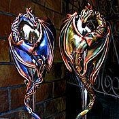 """Бокалы ручной работы. Ярмарка Мастеров - ручная работа Бокалы """"Радужные драконы"""". Handmade."""
