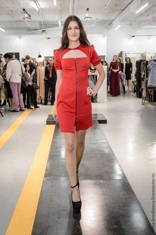 Платья ручной работы. Ярмарка Мастеров - ручная работа. Купить Платье. Handmade. Ярко-красный, Платье нарядное, бренд