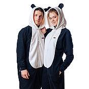 Одежда handmade. Livemaster - original item Home jumpsuit Panda FUNKY PANDA HOME SUIT. Handmade.