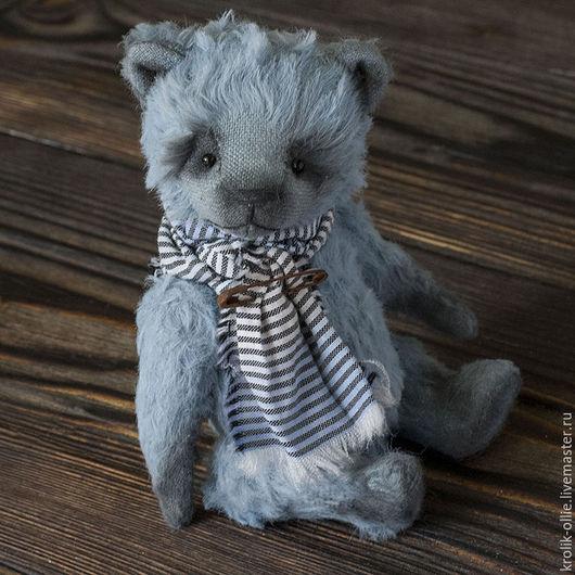 Мишки Тедди ручной работы. Ярмарка Мастеров - ручная работа. Купить Мишка Тедди Blueberry. Handmade. Голубой