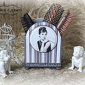"""Для дома и интерьера ручной работы. Ярмарка Мастеров - ручная работа Подставка для расчесок """"Одри"""". Handmade."""