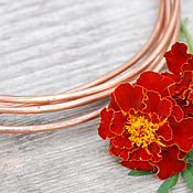 Материалы для творчества handmade. Livemaster - original item 3,0 mm; copper wire (50 cm cut). Handmade.