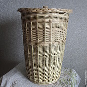 Для дома и интерьера handmade. Livemaster - original item Pail with cover of vines, Round box with lid from the vine. Handmade.