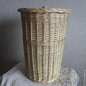 Для дома и интерьера handmade. Livemaster - original item Pail with cover of vines, Round box with lid from the vine. Handmade.