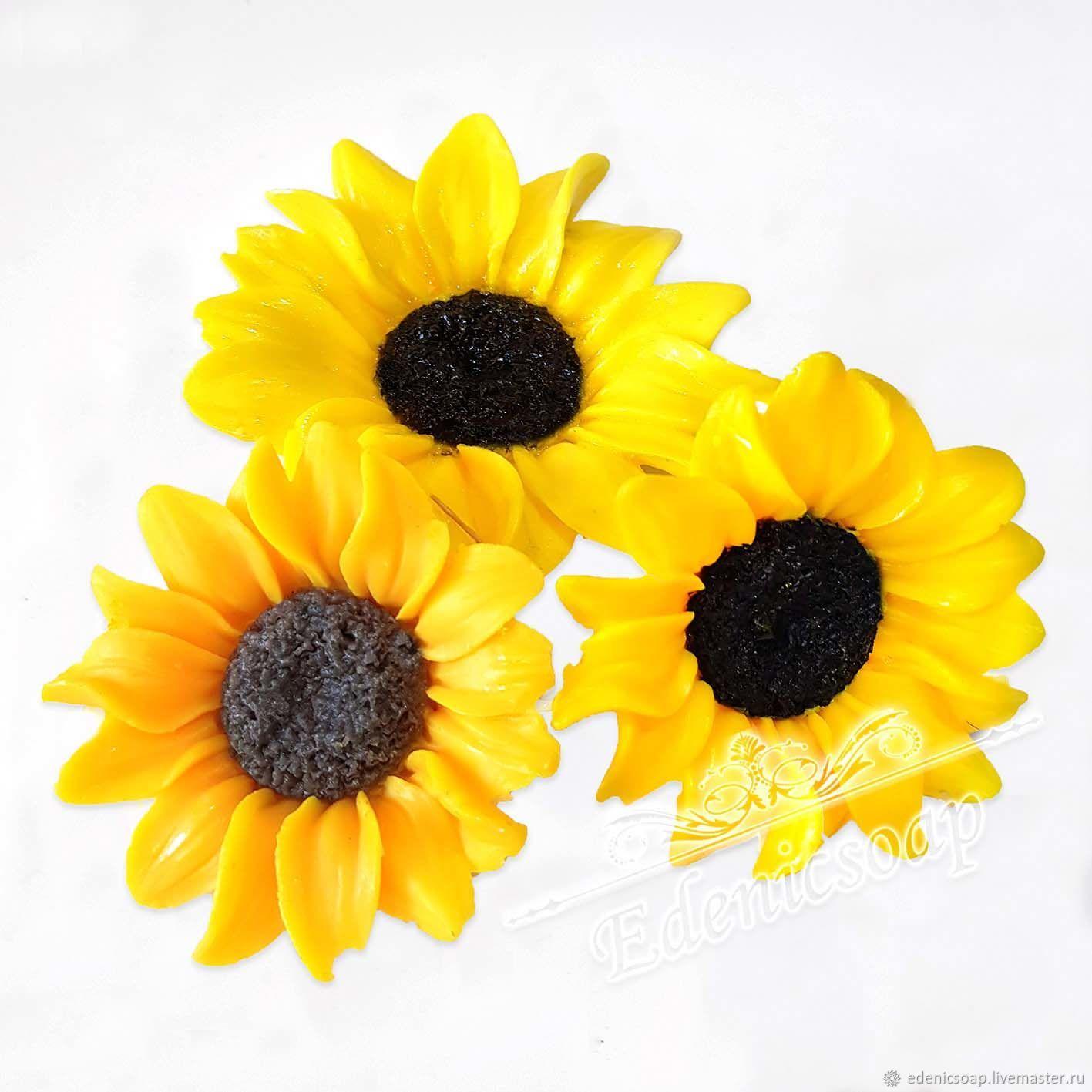"""Мыло ручной работы. Ярмарка Мастеров - ручная работа. Купить """"Подсолнухи"""" набор мыло ручная работа цветы желтый. Handmade."""