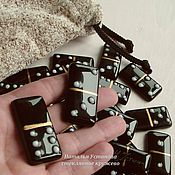Сувениры и подарки ручной работы. Ярмарка Мастеров - ручная работа Домино - настольная игра из стекла - черное, фьюзинг. Handmade.