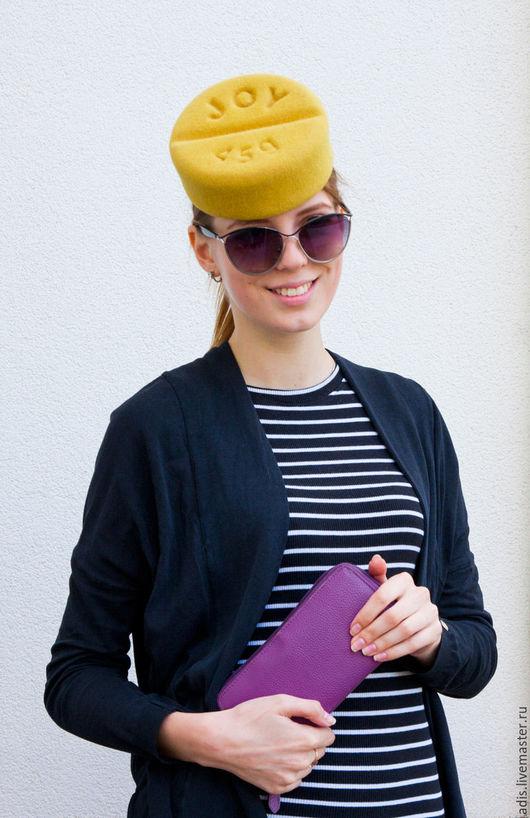 Шляпы ручной работы. Ярмарка Мастеров - ручная работа. Купить шляпка «Таблетка радости». Handmade. Оливковый, купить шляпу