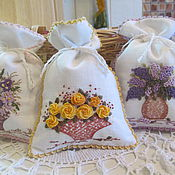 "Для дома и интерьера handmade. Livemaster - original item Baggies- sachets ""In our garden"". Handmade."