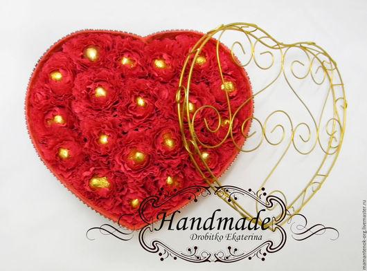 Подарки для влюбленных ручной работы. Ярмарка Мастеров - ручная работа. Купить Сердце из конфет в коробке (Единственный экземпляр). Handmade.
