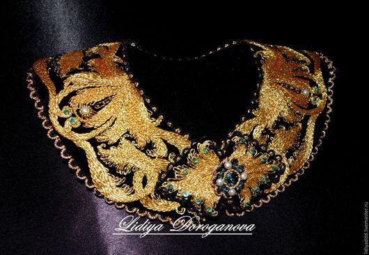 Воротничок Lidiya Doroganova ручная вышивка золотом Лидия Дороганова