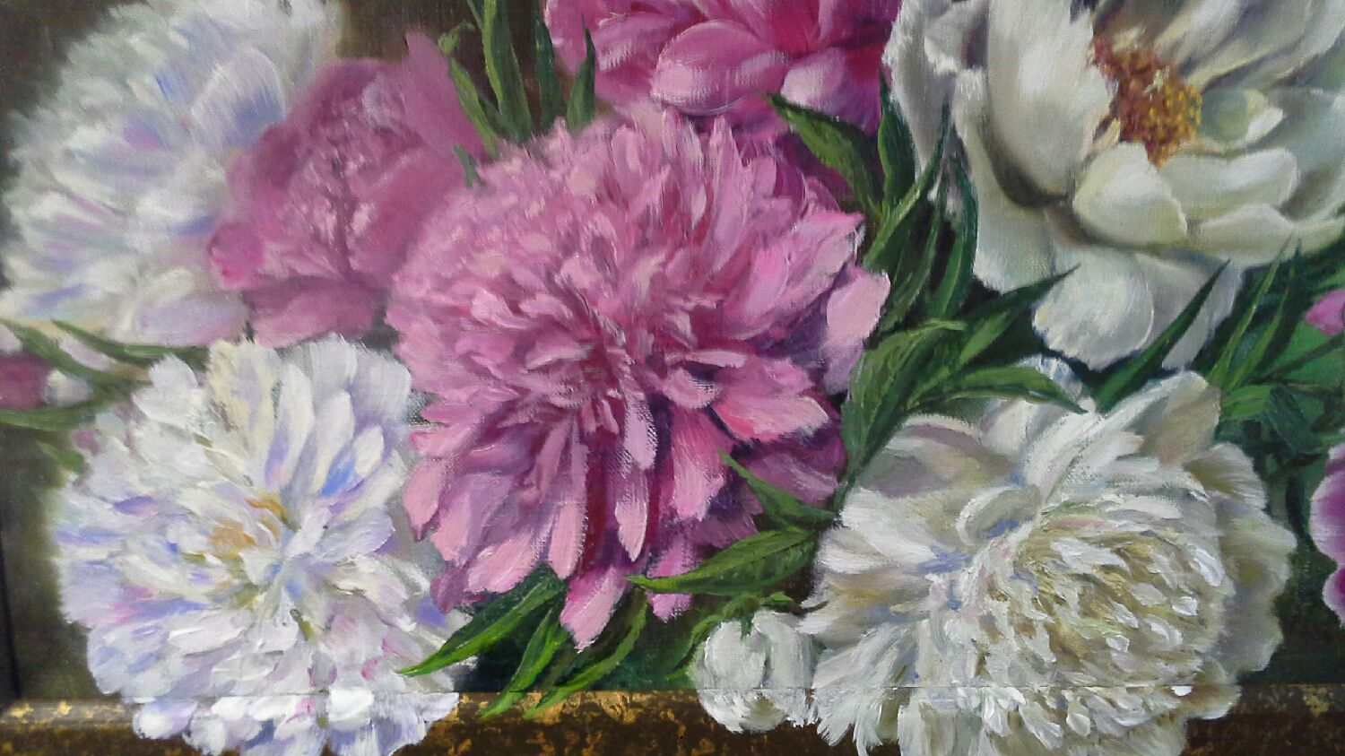 Oil paintingpeoniesflowers shop online on livemaster with lively palette flower painting handmade oil paintingpeoniesflowers izmirmasajfo