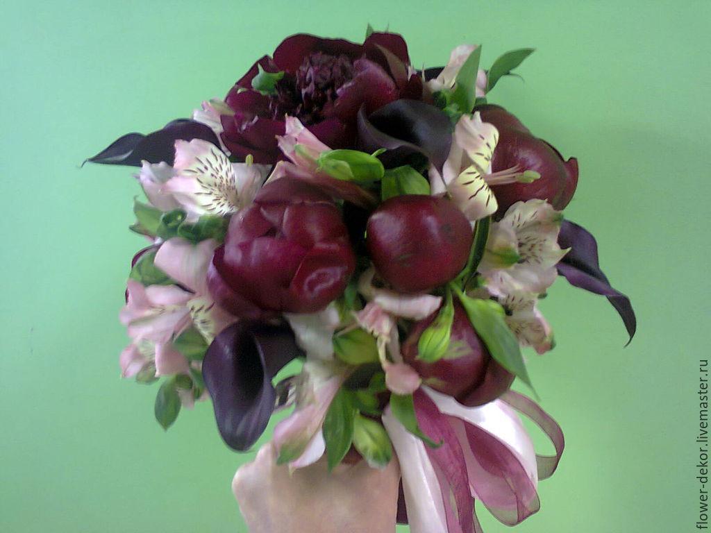 Пионы цветы из лент 24
