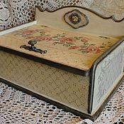 """Для дома и интерьера ручной работы. Ярмарка Мастеров - ручная работа """"Chic&Charme""""Хлебница из массива дуба. Handmade."""