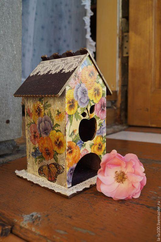 """Кухня ручной работы. Ярмарка Мастеров - ручная работа. Купить Чайный домик """"Виолы"""". Handmade. Комбинированный, сельский стиль, фиалки"""