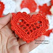 Материалы для творчества handmade. Livemaster - original item Heart openwork knit. Handmade.