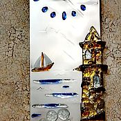 "Часы классические ручной работы. Ярмарка Мастеров - ручная работа Часы: ""Старый маяк"". Handmade."