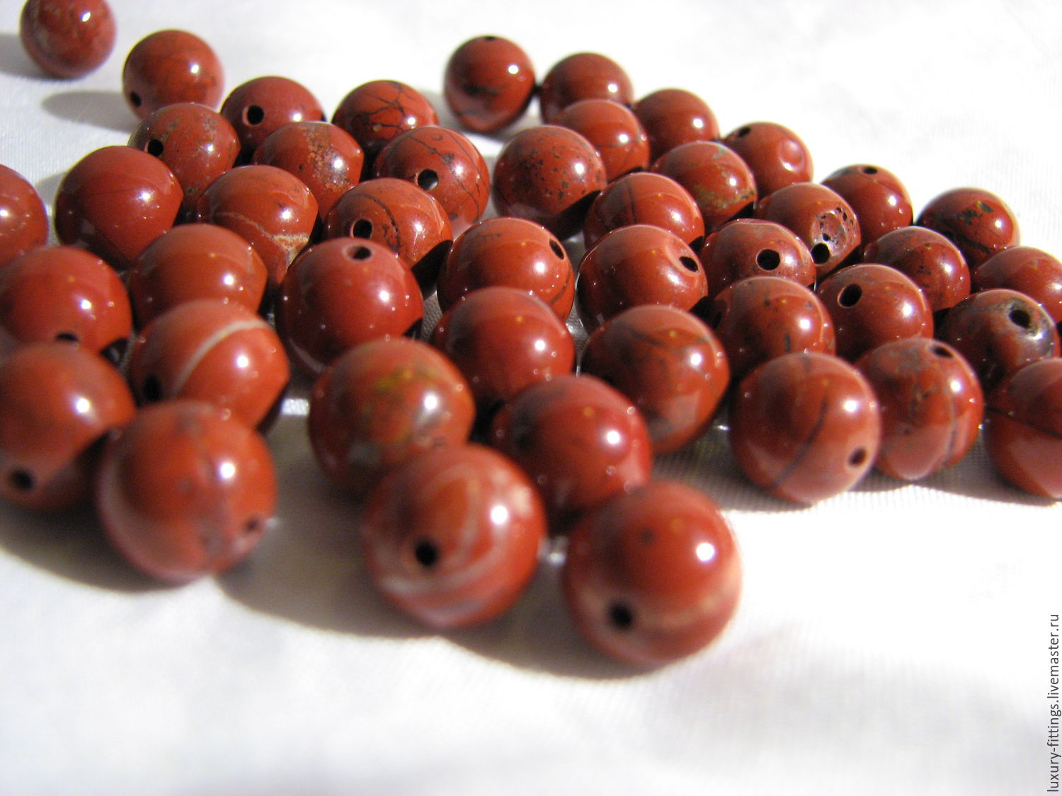 Jasper red 8 mm smooth ball, Beads1, Moscow,  Фото №1