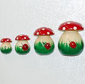 Сувениры и подарки handmade. Livemaster - original item mushroom magnet in stock. Handmade.