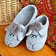 Обувь ручной работы. Ярмарка Мастеров - ручная работа. Купить Тапко-овцы.. Handmade. Серый, тапки мужские, домашние тапочки