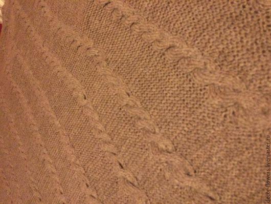 """Текстиль, ковры ручной работы. Ярмарка Мастеров - ручная работа. Купить Плед вязаный шерстяной """"Верблюд"""". Handmade. Коричневый, покрывало"""