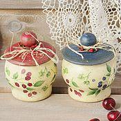 Посуда handmade. Livemaster - original item Set of pots for storage