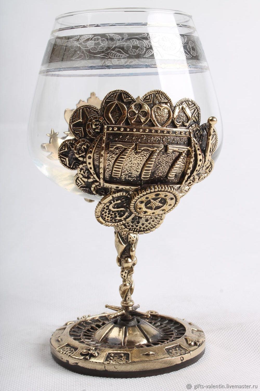 Glass of cognac ' Casino', Wine Glasses, Vacha,  Фото №1