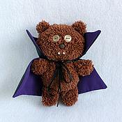 Мягкие игрушки ручной работы. Ярмарка Мастеров - ручная работа Мишка Тим вампир. Handmade.