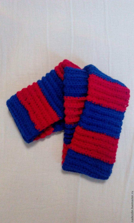 Схема вязания шарфа цска
