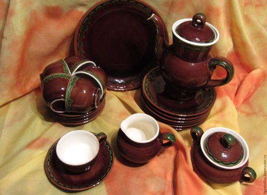 Винтажная посуда. Ярмарка Мастеров - ручная работа. Купить Чайный или кофейный сервиз. Майолика. Конаково. Скидка 10%. Handmade.