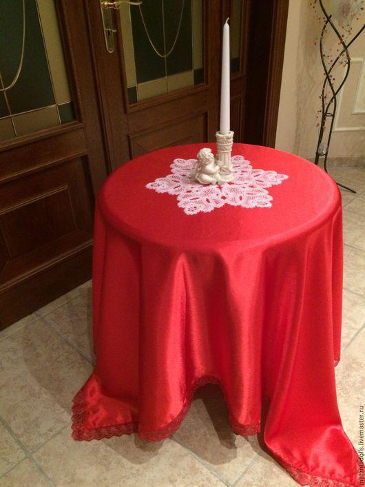 Текстиль, ковры ручной работы. Ярмарка Мастеров - ручная работа. Купить Скатерть красная шелковая.. Handmade. Ярко-красный, Пасха
