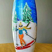 """Для дома и интерьера ручной работы. Ярмарка Мастеров - ручная работа Ваза """"Лыжница"""". Handmade."""
