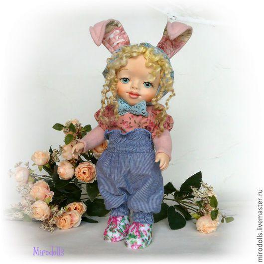 Коллекционные куклы ручной работы. Ярмарка Мастеров - ручная работа. Купить Зайка тедди-долл. Милая зайка. Интерьерная коллекционная кукла игрушка. Handmade.