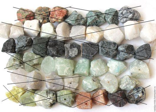 Для украшений ручной работы. Ярмарка Мастеров - ручная работа. Купить Необработанные камни. Handmade. Лазурит, яшма натуральная, змеевик