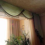 Для дома и интерьера ручной работы. Ярмарка Мастеров - ручная работа Комплект штор для гостиной, спальни с ламбрекеном. Handmade.