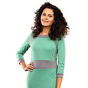 """Одежда ручной работы. Ярмарка Мастеров - ручная работа Комбинированное платье из трикотажа """"фукро"""" , 3 цвета. Handmade."""