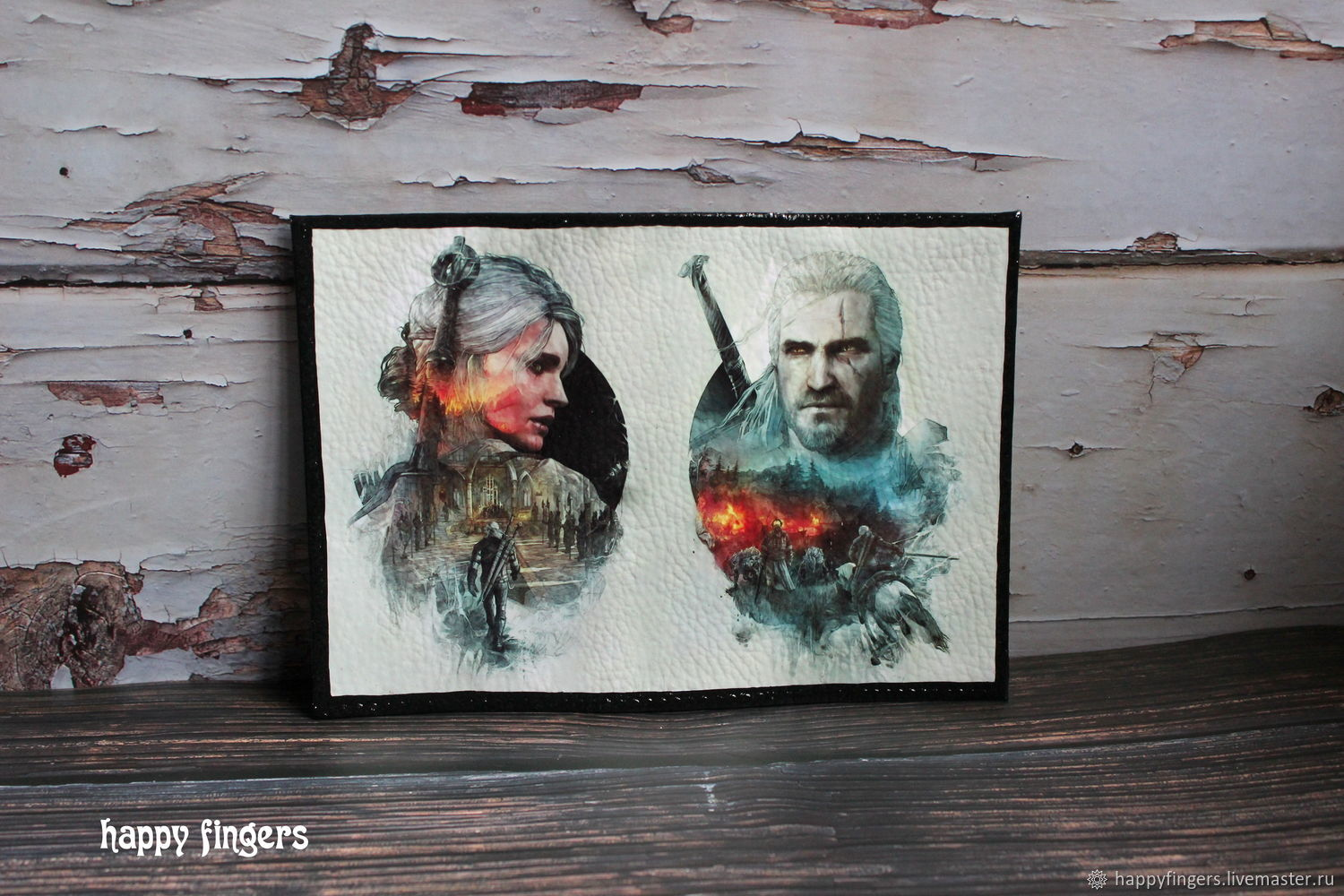 Leather cover passport 'the Witcher' The Witcher, Cover, Elektrostal,  Фото №1