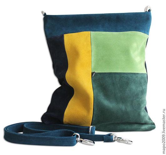 Женские сумки ручной работы. Ярмарка Мастеров - ручная работа. Купить Цветная сумка. Handmade. Сумка, сумка с аппликацией, абстрактный