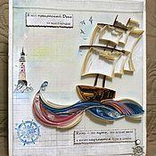 Открытки ручной работы. Ярмарка Мастеров - ручная работа Открытки ручной работы в технике квиллинг   от Ковтун Дарьи. Handmade.