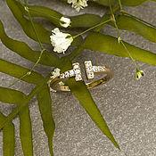 Кольца ручной работы. Ярмарка Мастеров - ручная работа Стильное кольцо в стиле Tiffany T Wire из желтого золота 585 пробы. Handmade.