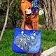 """Женские сумки ручной работы. Ярмарка Мастеров - ручная работа. Купить Валяная сумка """"Синяя сказка"""". Handmade. Валяние"""