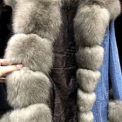 Одежда handmade. Livemaster - original item Dzhinsovka with sable fur under the tor-tor (light sable). Handmade.